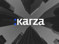 Karza Branding machine learning ai website design vector uiux clean ui technology minimal logo interface illustrations graphic design graphic flat design clean corporate identity blue branding