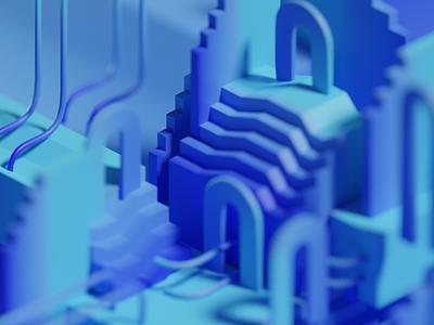 Color Compositions render colorful art architecture abstract 3d art 3d blender3d