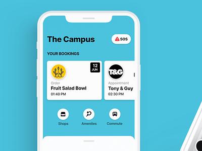 Smart campus app part deux visual design simple modern flat clean brand app typography graphic design creative ios app design vector ui ux design
