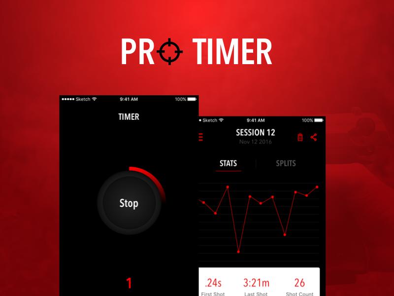 ProTimer- a shot timer app protimer timer ios ux ui gun shooting