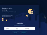 Concept landing for a microfinancing platform