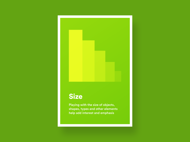 Size uxinspiration ux uiux ui graphicdesign design desiginspiration uxprinciples posters