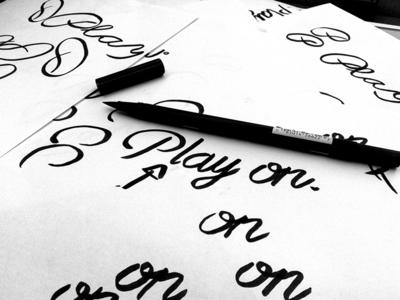 Play On, Handwriting