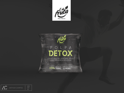 Detox Fruit Pulp design packaging