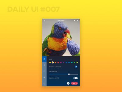 Settings - Daily UI #007