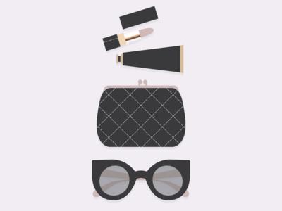 minimal chic fashion glasses london chic girly coin purse purse packaging lotion lipstick sunglasses bag makeup minimal