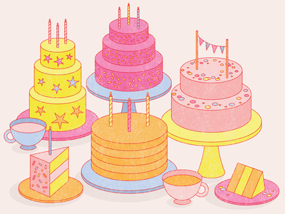 give me all of the cake birthday candle candles sprinkles stars cake slice birthday cake birthday dessert tea retro cake