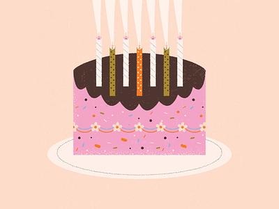 inktober // 02 // smoke baking sprinkles floral flower frosting wish celebrate birthday candles birthday cake birthday candles smoke cake retro