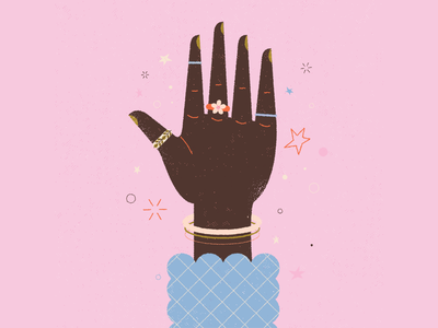 vectober // 04 // hand floral flower painted nails nails sleeve bracelet jewelry rings hand retro