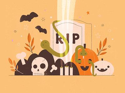 spooky snakes texture retro snake gravestone tombstone bats pumpkin bones skull graveyard halloween snakes