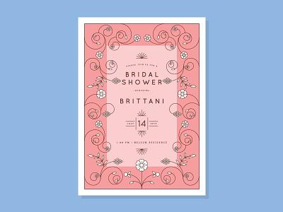 bridal shower invite berries stationery leaves pattern flowers floral wedding invitation bridal shower invite