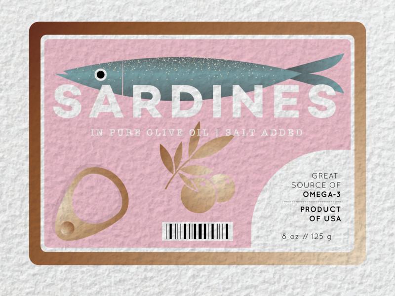 sardines tin olive oil food packaging fish sardines