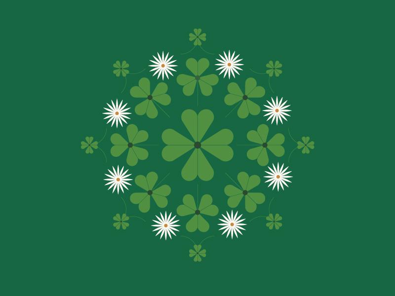 shamrocks medallion flower st patricks day st patrick green luck clover four leaf clover shamrock
