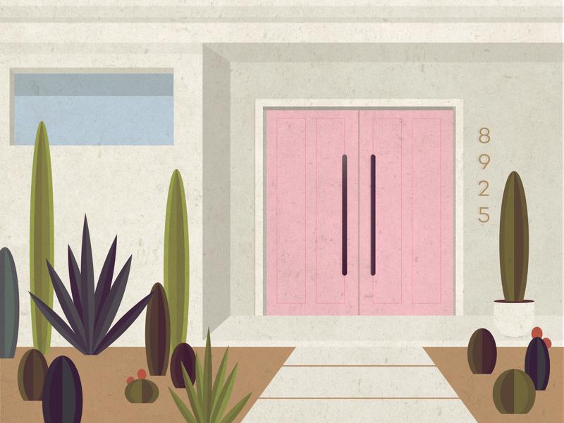 palm springs summer mid century modern succulent door house cactus desert mid century palm springs