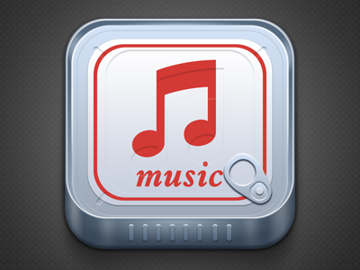 Music Cans music charhen china red iphone ios icon cans can