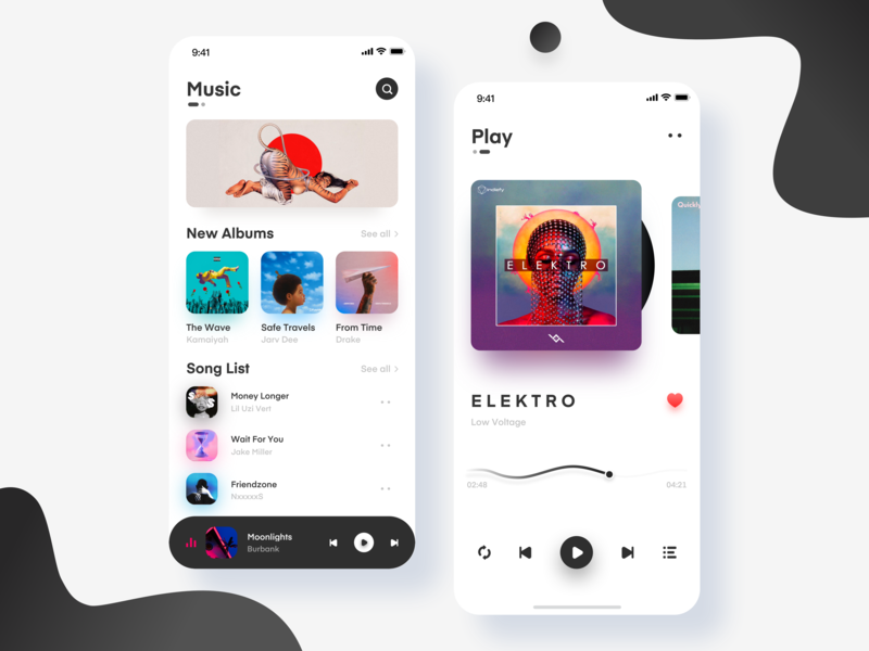 Music App-Play Page pages music play ui design app