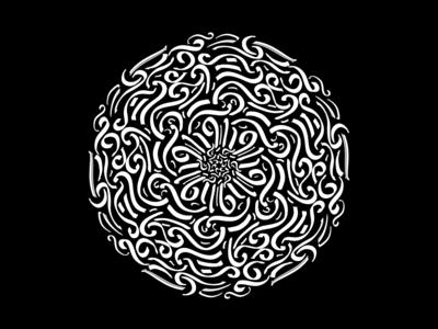 Mandala I (doodle,calligraphy)