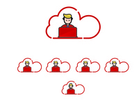 it & cloud service icons and logo