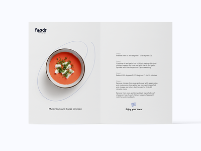 foodr recipe steps dtp print publishing branding food delivery service food delivery recipe card recipe