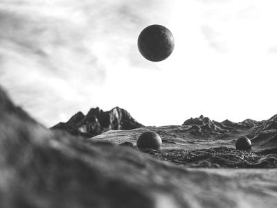 Balls on a mountain