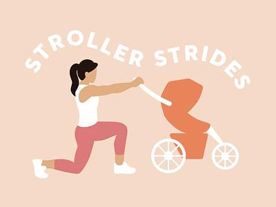 Stroller Strides illustration design vector motherhood mom fitness stroller workout