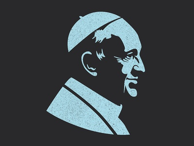 Pope Francis  graphic design design catholic pope francis pope portrait vector illustration