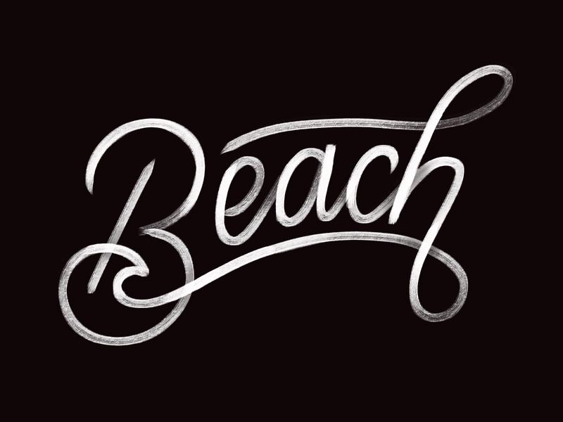 Beach ocean ligature procreate hand lettering ipad lettering lettering beach