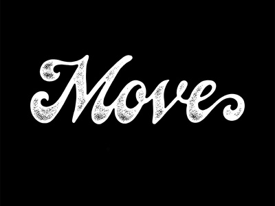Move brush lettering type active move hand lettering lettering