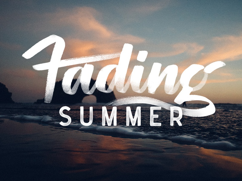 Fading Summer tombow calligraphy lettering ocean beach summer hand lettering brush lettering