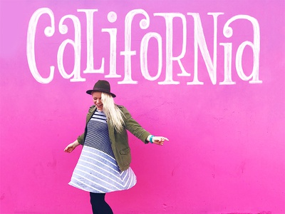 California serif pink socal southern california california hand lettering lettering