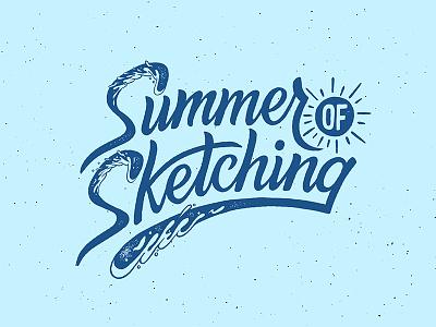 Summer of Sketching surfing surf hand lettering lettering wave sketching sketch summer