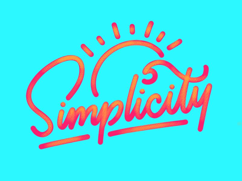 Simplicity goodtype ipad lettering hand lettering summer sun monoline lettering wave ocean