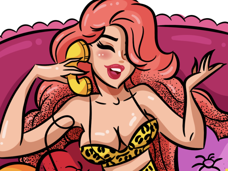 Hey Baby Pinup cute vector lady chettah pink love pinup girl beautiful chicita mamcits woman lingerie sexy pinup freelance illustration