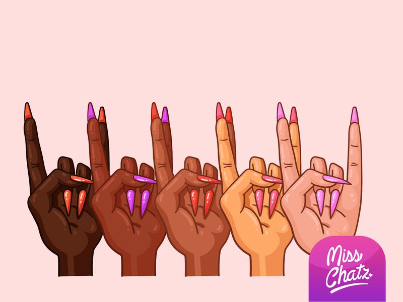 We Stand Together symbol illustration design women in illustration together stand matter lives black blm diversity women manicure protest hands female illustration