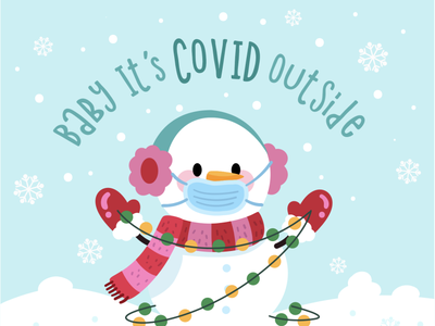 Baby it's COVID Outside artist vectorart snowboard creative market buy vector humor funny cute art corona covid outside cold baby vector cute snow snowman freelance illustration
