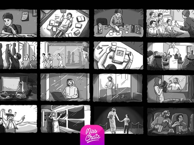 Generations Storyboard time quality movie cinema amc family khaleeji arabian arab gul mena gcc middle east arabia saudi illustration