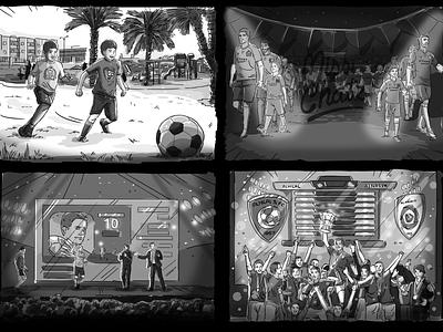 Saudi Champion League sketch storyboard play game al nasser hilal arabian football soccer league champion saudiarabia saudi