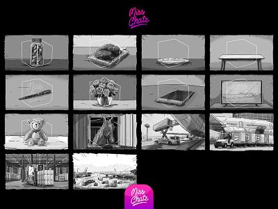Heroes In the Shadows arab freelance design arabian sketch essentials transport frieght travel storyboard frames illustration