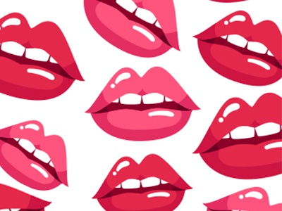 Hot Lips Pattern illustration pink sassy red cute print pattern sexy lips hot