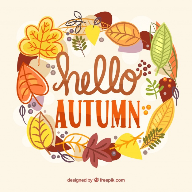 Beautiful hello autumn lettering background 23 2147885119