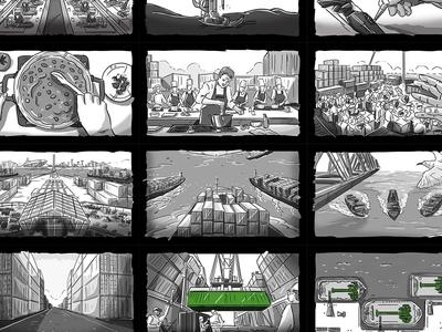 King Abdullah Port storyboard
