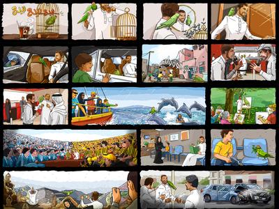 Rabea Tea colored Storybaord