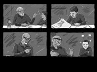 Teasing Grandpa 'Glass of Milk' Storyboard