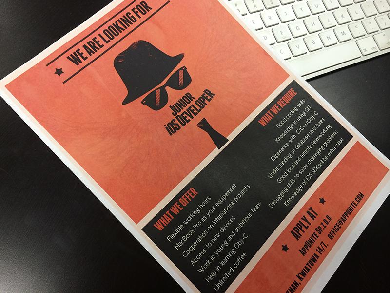 Print design // We're hiring! print ad poster retro