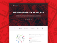 Landing page for transportation startup