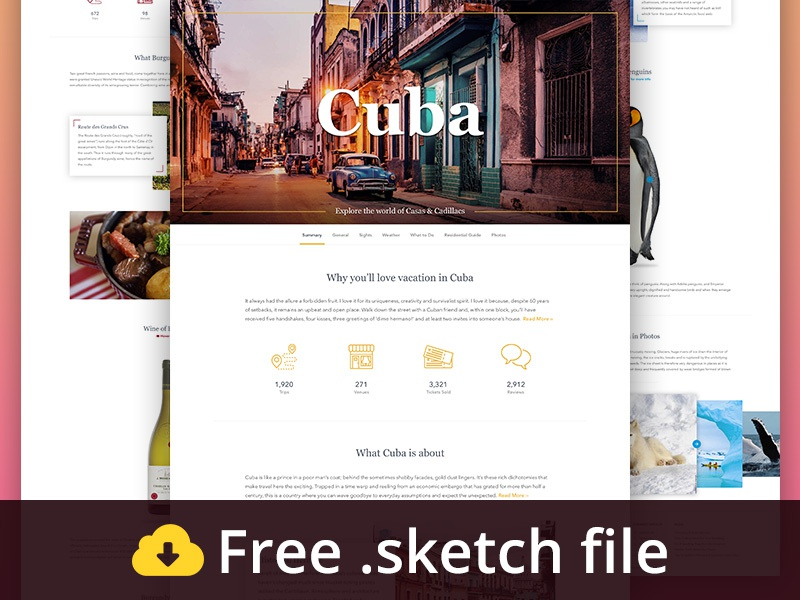 Download Travel Landing Page Pack Freebie