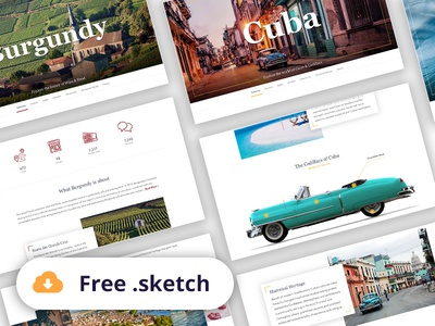 Free Travel Landing Page Generator Sketch by Jakub from ...