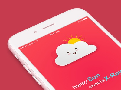 Happy Cloud teach learn weather temperature mobile ios interface interaction illustration kids app