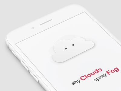 Fog Spray app kids illustration interaction interface ios mobile temperature weather learn teach