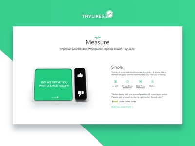 Startup Landing Page / Device Info landing page clean minimal flat conversion device website responsive